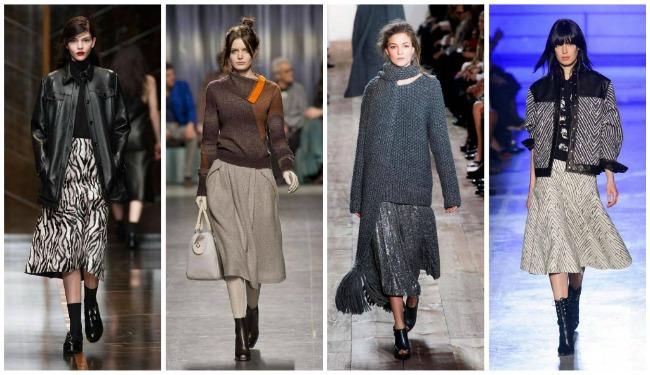 Как носить юбку с зимней обувью