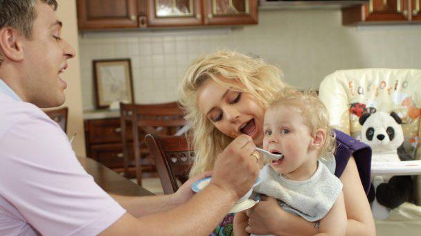 Кароль и Огир с сыном