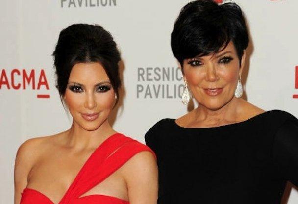 Ким Кардашьян с мамой