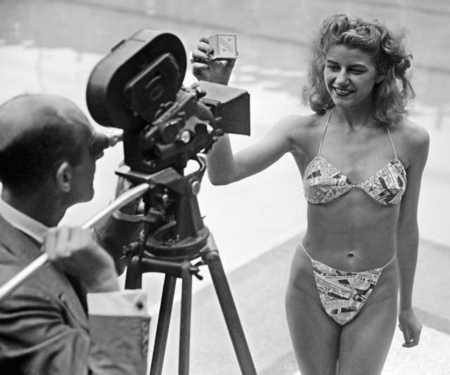 Самые сексуальные бикини в истории Мишелин Бернардини в первом бикини