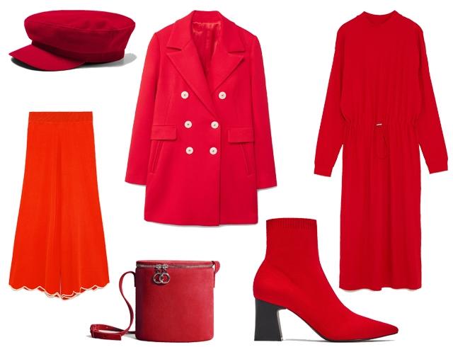 красный наряд, total red