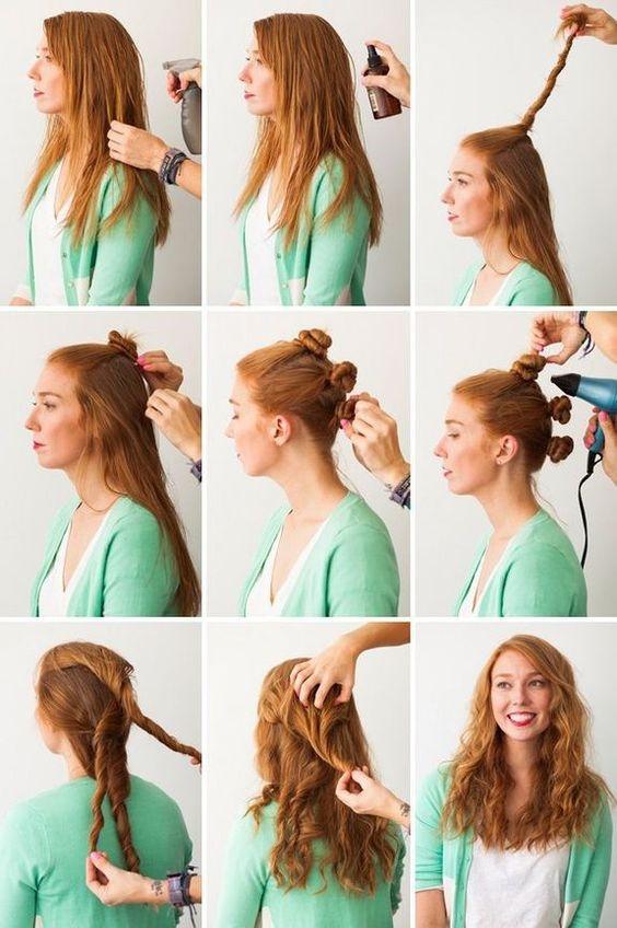 Как сделать волосы кудрявыми без плойки фото 286