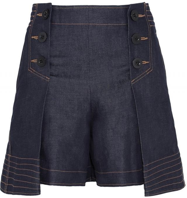 Модные джинсовые шорты лето 2016 Юбка-шорты