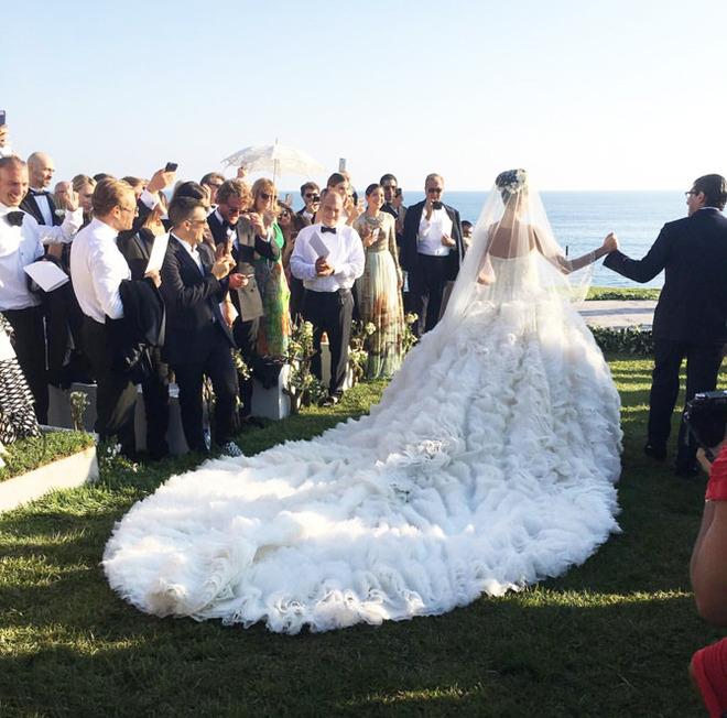 Джованна Батталья свадьба свадебное платье