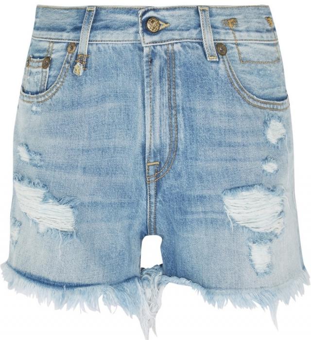 Модные джинсовые шорты лето 2016 Рваные джинсовые шорты с бахромой