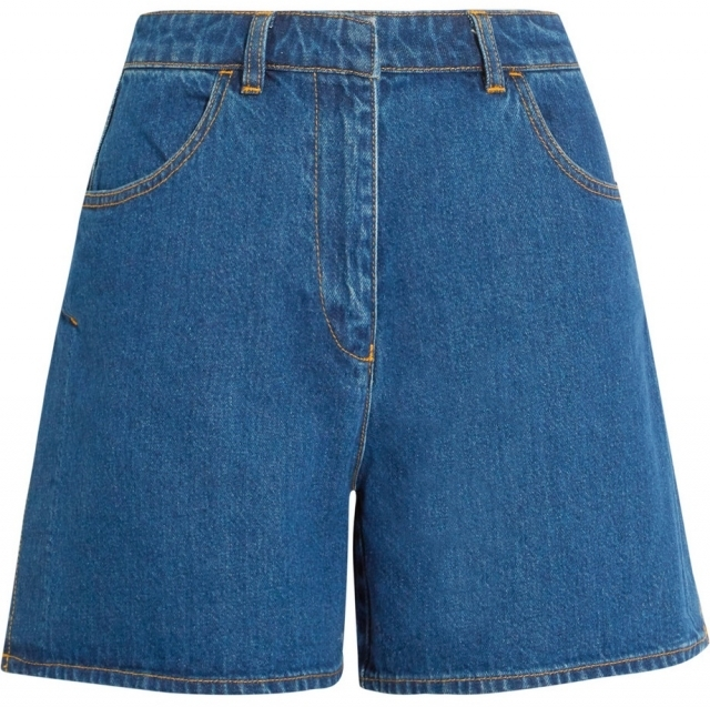 Модные джинсовые лето 2016  шорты на талии