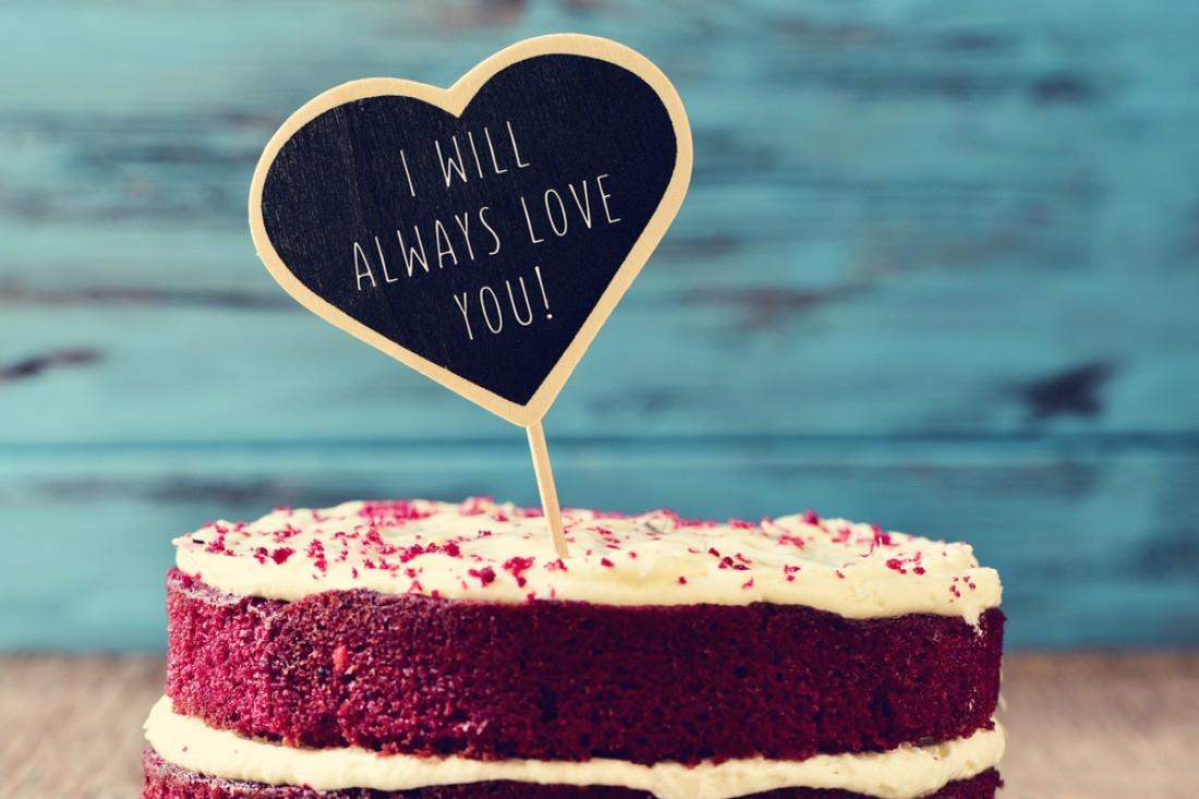 Подарок на День святого Валентина в виде торта