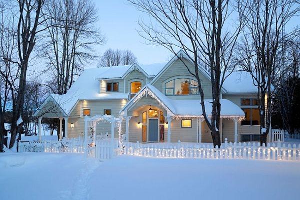 как утеплить дом зимой