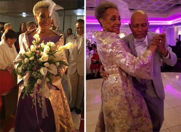 Почему бы и нет: 86-летняя невеста отправилась под венец в платье, которое она придумала сама - фото №2