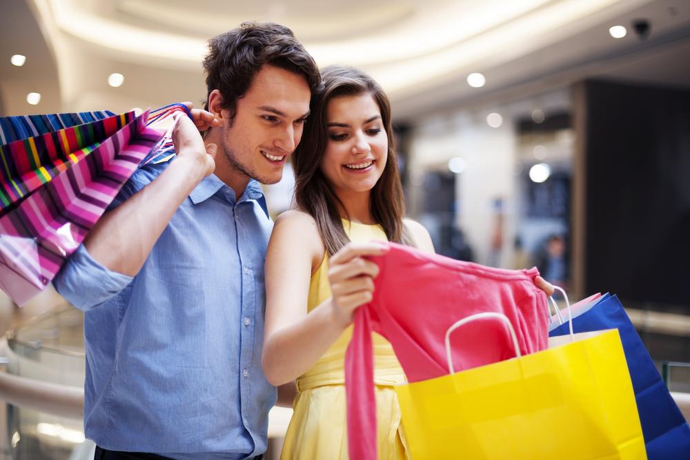 шопинг в торговом центре