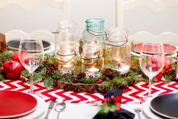 яркий праздничный стол на новый год