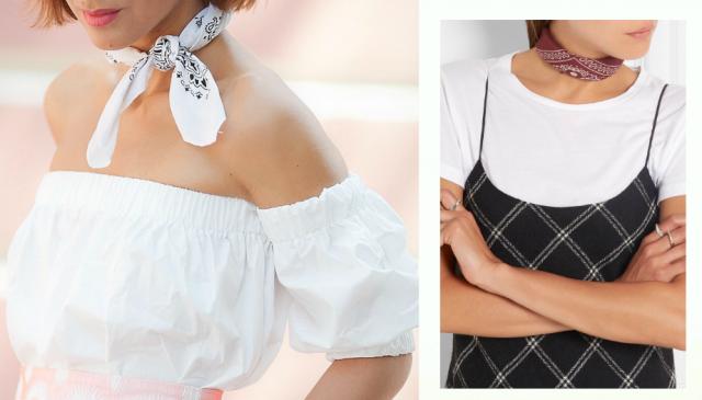 модные украшения 2016 бандана как носить бандану на шее