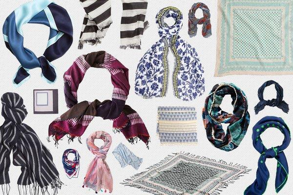 50 весенних шарфов, платков и косынок: тренды и варианты - фото №1