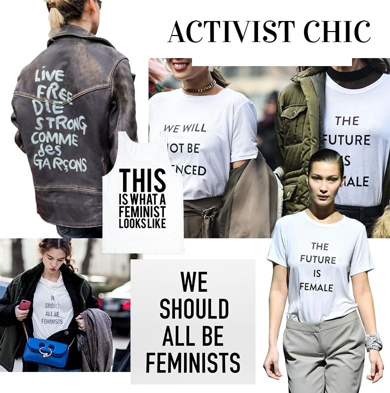 Что в моде осенью 2017   футболки с надписями фото   феминистские футболки фото