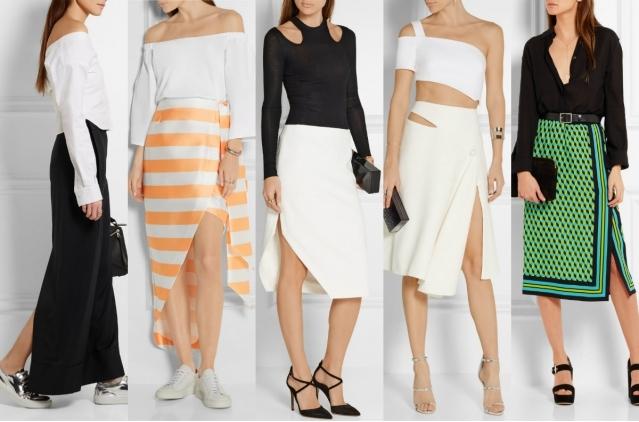 Самые модные юбки лета 2016: юбки с разрезами