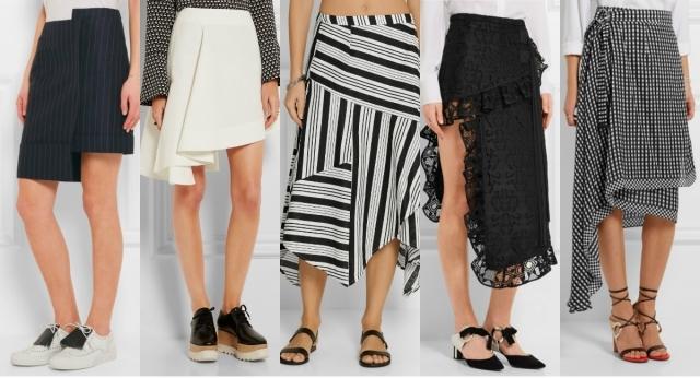 Самые модные юбки лета 2016: юбки ассиметричной длины, юбки ассиметричного кроя