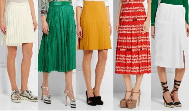 Самые модные юбки лета 2016: юбки плиссе, плиссированные юбки, юбки в складку