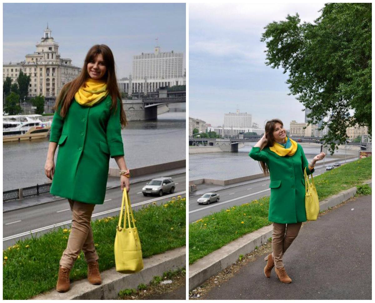 Fshion-гид: с чем носить зеленое пальто