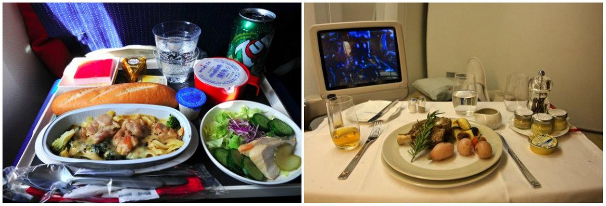Еда в самолетах авиакомпаний разных стран: отличия эконом-класса от бизнес-класса - фото №1