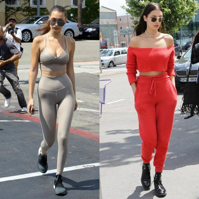 Как носить спортивную одежду Белла Хадид