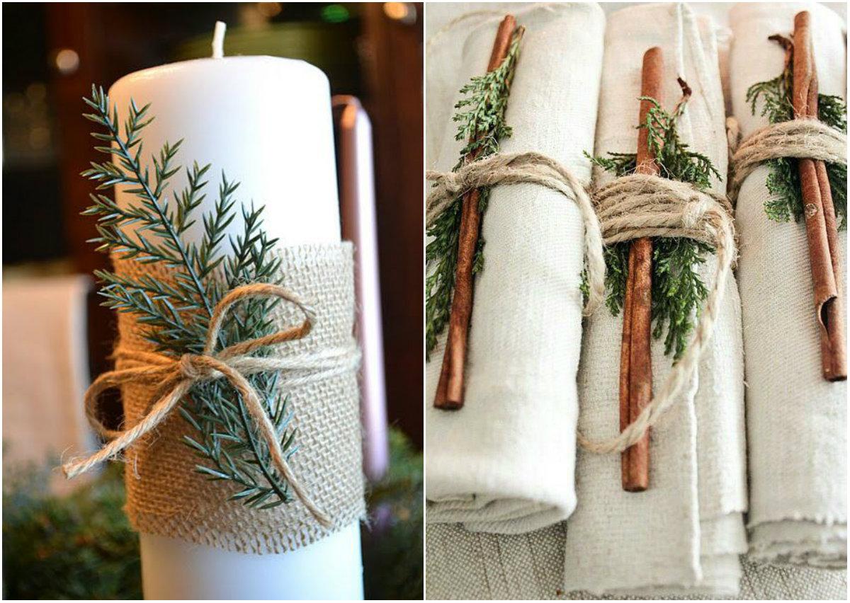 Как украсить стол к Новому году: идеи декора из натуральных материалов - фото №2