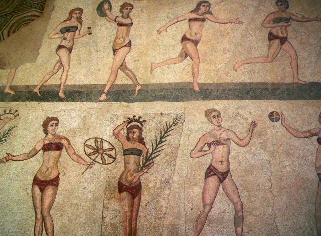 Самые сексуальные бикини в истории первые бикини древний рим
