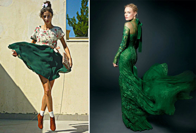 2e5b56c55e8 Тренд  изумрудно-зеленый цвет - как и с чем носить