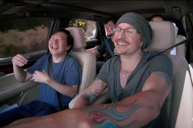 carpool karaoke честер беннингтон