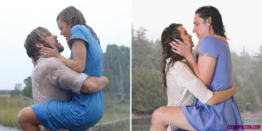 10 культовых поцелуев из фильмов в реальной жизни: как это выглядело бы на самом деле - фото №3