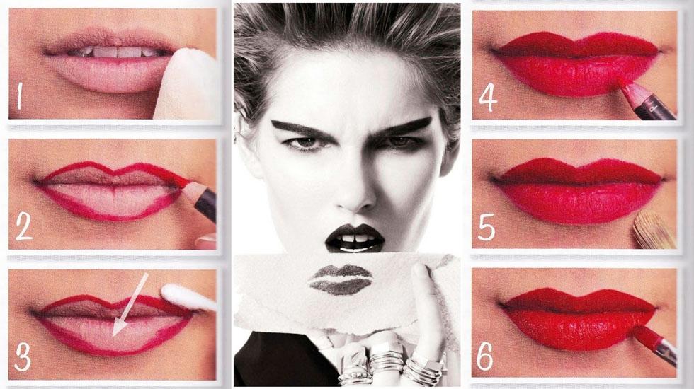 Как носить красную помаду: 3 типа макияжа - фото №1