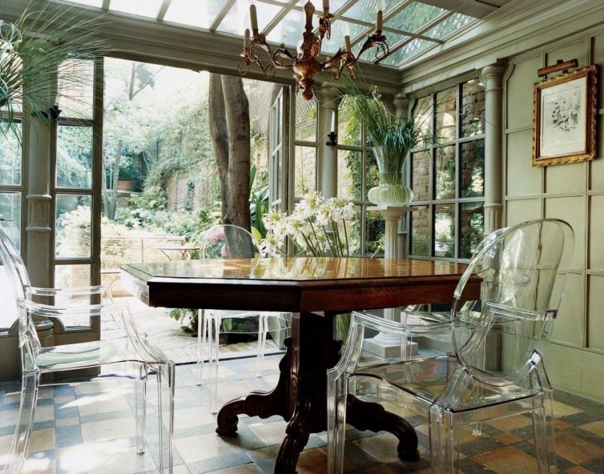 дом окно растения