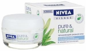 Увлажняющий дневной крем Pure & Natural с аргановым маслом и алоэ вера от Nivea
