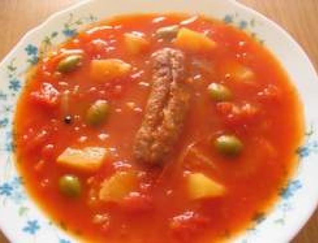 Суп томатный по-португальски