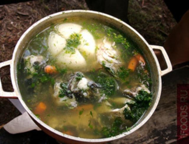 Напарокко (суп с сушеным окунем) по-марийски