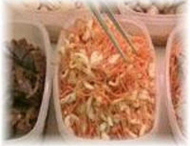 Салат из свиных ушек острый по-корейски «Бань мала чжуписы»