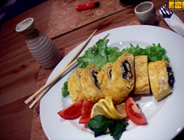 Угорь с зеленью (банкетное блюдо голландской кухни)