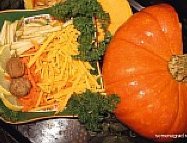 Салат из тыквы с луком и корнем хрена