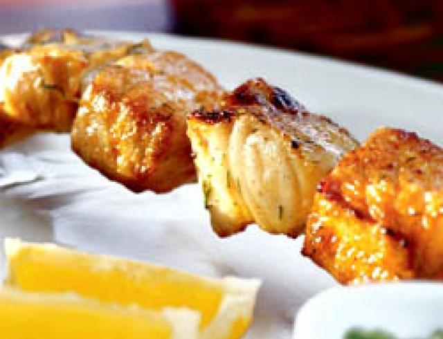 Шашлык- ассорти из морской рыбы