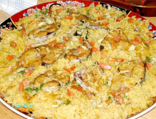 Плав апхтац дзков (плов с копченой рыбой), блюдо армянской кухни