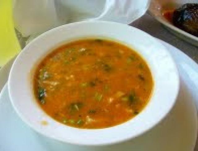 Суп чорба-топчета (блюдо албанской кухни)