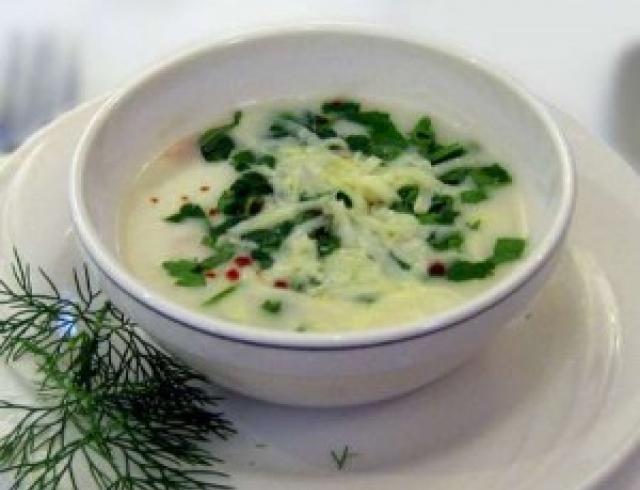 Сырный суп деликатесный