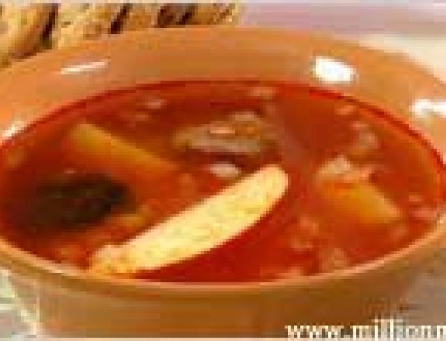 Суп с тефтелями - бозбаш бакинский
