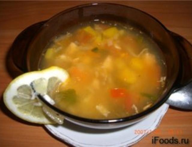 Суп из лосося деликатесный