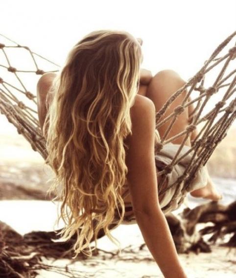 Как сделать волосы на море 124