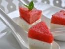 Летняя закуска: арбуз с сыром фета и мятой
