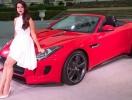 Лана Дель Рей представила новый Jaguar на Paris Motor Show. Фото