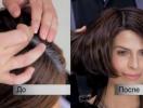 Как закрасить отросшие cедые корни волос