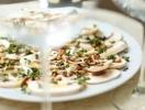 Рецепт салата из сырых шампиньонов