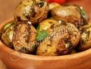 Рецепт постного блюда «Картофель с чесноком, запеченный в духовке». ФОТО