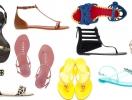 Модные шлепки и босоножки на плоской подошве  лета 2013
